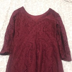 Merona Dresses - a burgundy dress